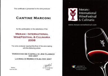 Lacrima di Morro d'Alba DOC 2007 – Merano International WineFestival e Culinaria 2008