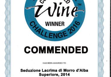 Lacrima di Morro d'Alba Superiore 2006 – Seduzione – Commended – International Wine Challenge 2016