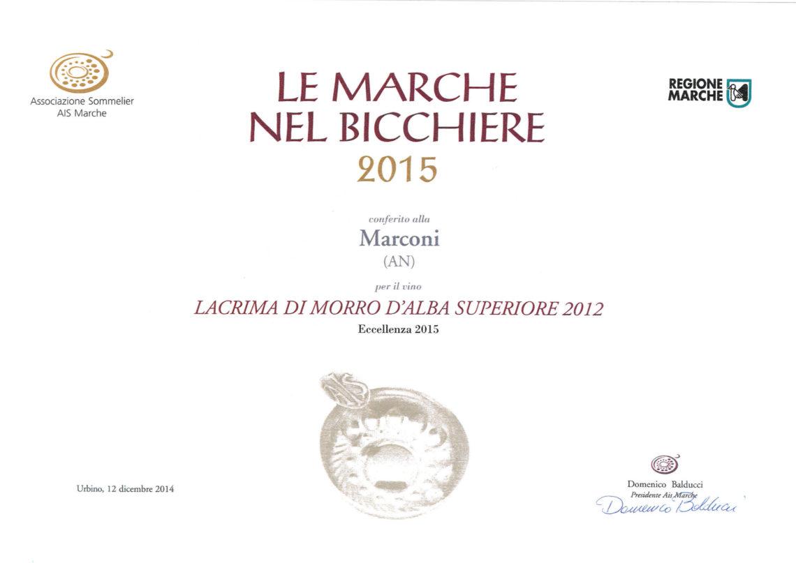 Marconi Vini - Lacrima di Morro d'Alba Superiore 2012 - Le Marche nel Bicchiere 2015