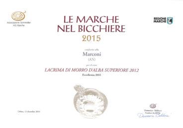 Lacrima di Morro d'Alba Superiore 2012 – Le Marche nel Bicchiere 2015