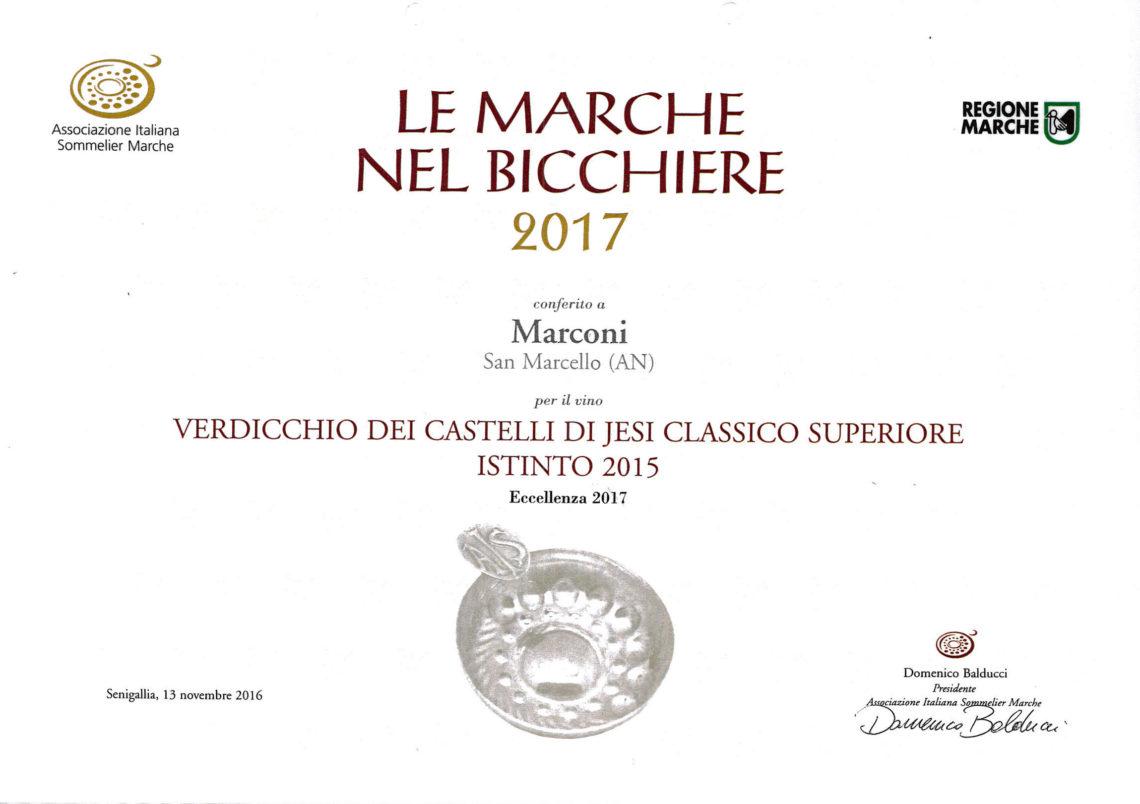 Marconi Vini - Verdicchio Classico Superiore 2015 - Istinto - Le Marche nel Bicchiere 2017