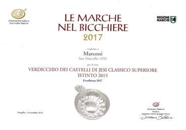 Verdicchio Classico Superiore 2015 – Istinto – Le Marche nel Bicchiere 2017