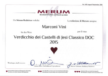 Verdicchio dei Castelli di Jesi Classico DOC 2015 – Merum 2016