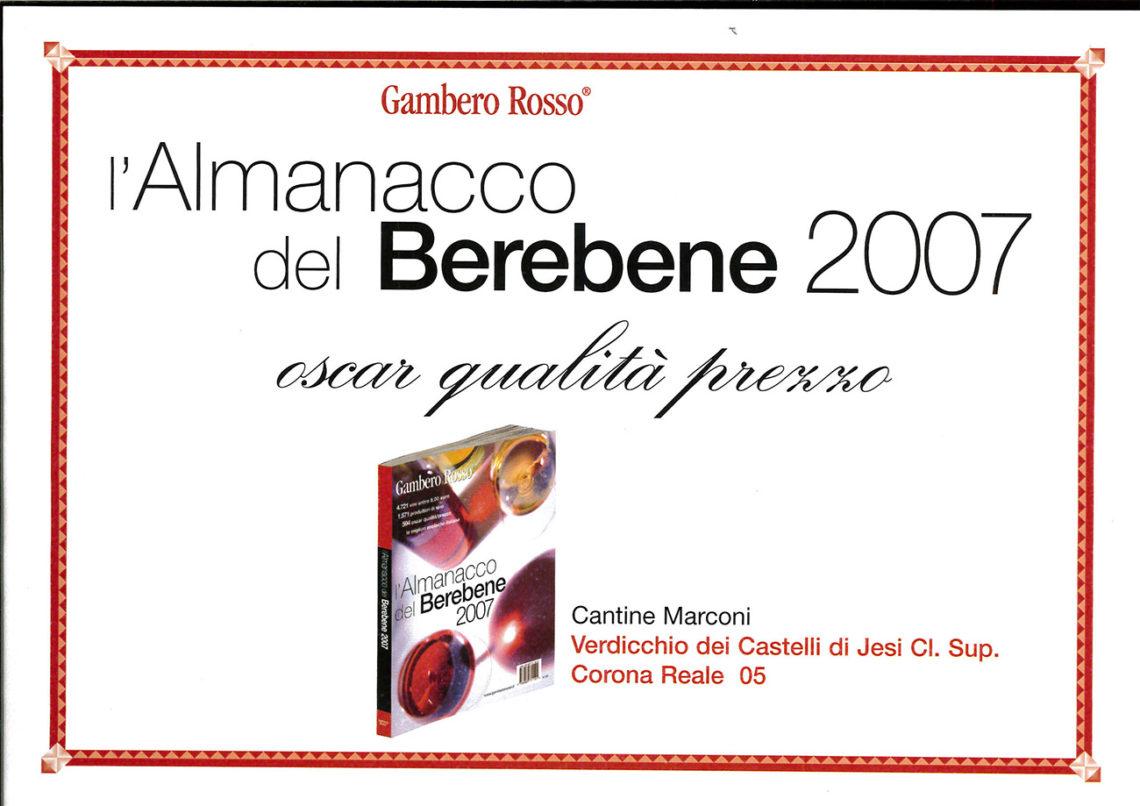 Marconi Vini - Verdicchio dei Castelli di Jesi Classico Superiore 2005 - Almanacco del Berebene 2007