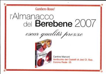Verdicchio dei Castelli di Jesi Classico Superiore 2005 – Almanacco del Berebene 2007