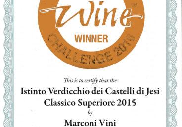 Verdicchio dei Castelli di Jesi Classico Superiore 2015 – Bronze – International Challenge 2016