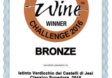Verdicchio dei Castelli di Jesi Classico Superiore 2015 – Istinto – Bronze – International Wine Challenge 2016