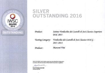 Verdicchio dei Castelli di Jesi Classico Superiore DOC 2015 – Istinto – Silver – International Wine e Spirit Competition 2016