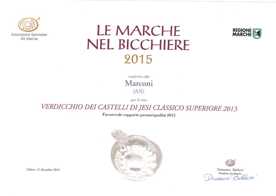 Marconi Vini - Verdicchio dei Castelli di Jesi Superiore 2013 - Le Marche nel Bicchiere 2015