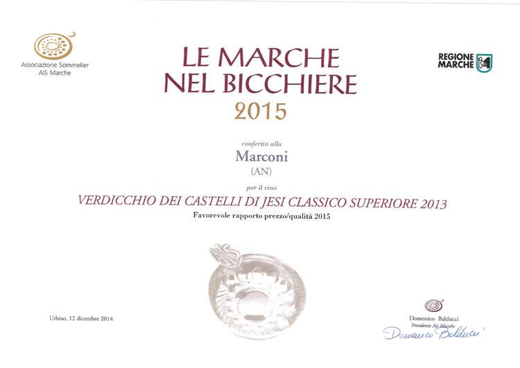 Verdicchio dei Castelli di Jesi Superiore 2013 – Le Marche nel Bicchiere 2015
