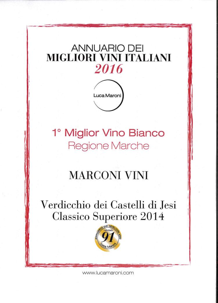 Verdicchio dei Castelli di Jesi Superiore 2014 – MigliorAnnuario dei Migliori Vini Italiani 2016